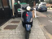 PIAGGIO VESPA LX 125cc ie blue 59 reg 2009 low mileage hpi clear!!