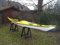 Sea Kayak. Greenlander Pro made by Nigel dennis Kayaks (&Compass) Fibre glass in excellent cond