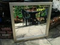 Mirror in gold frame