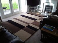 """Heavy 100% wool Indian rug as new 8' 11"""" X 6' cost new £600"""