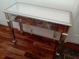 Glass Mirrored Table