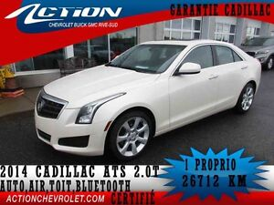 2014 CADILLAC ATS SEDAN TURBO AUTI,AIR,TOIT,BLUETOOTH