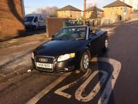 Audi A4 1.8 Turbo automatic convertible 2006 reg full black with black interior excellent condition