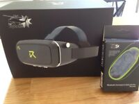 The Flyzone Virtual Reality Headset + Bluetooth Gamepad & Selfie Shutter Remote