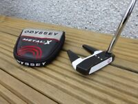 Odyssey Versa 7 Putter, 35 inches, with Superstroke 2.0 Mid Slim Countercore Grip & headcover. Rare.