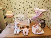Baby annabell doll toy bundle in good condition!