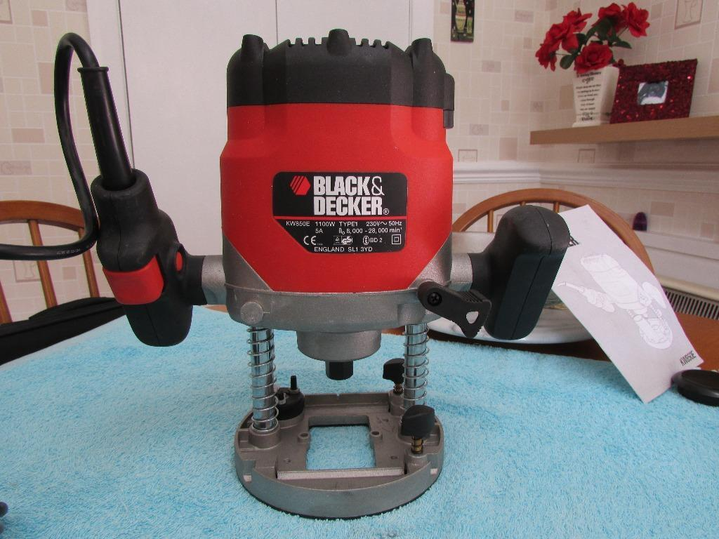 black and decker 7610 router manual