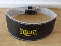 Everlast weightlifting belt size large