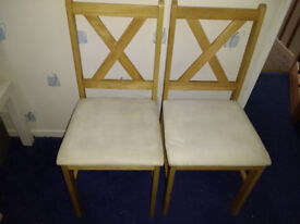 4 x Dining Chairs - solid wood