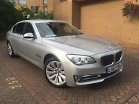 BMW 730LD LWB 2013 NEW SHAPE FULL SERVICE HISTORY 1 OWNER HPI CLEAR