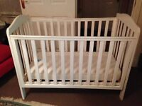 Mothercare Cot Bed + Mothercare Mattress