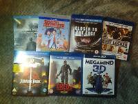 5 3D movies & 2 Blu-rays