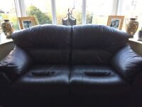 G PLAN BROWN LEATHER SETTEES - 2 AND 3 SEATER