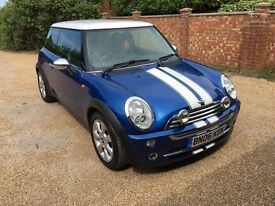 2006 06 MINI COOPER 1.6 BLUE (Leather interior) Mot end of Feb 2018 - Great conditon must see!