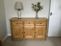 Solid oak sideboard Oak Furniture Land