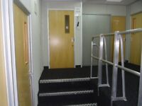 Self Contained Unit comprising of 6 offices. Lobby, Ladies and Mens Toilet. Area approx 1,200sqft