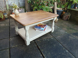 Shabby Chic Coffee Table (Solid Pine)