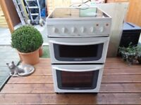 HOTPOINT CERAMIC ELECTRIC COOKER 50 CM DOUBLE OVEN