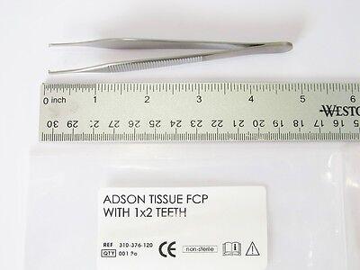 Adson Tissue Forceps 4.5 12 Cm 1x2 Teeth German Stainless Steel Krebs