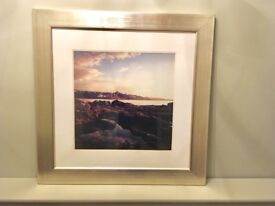 """Mounted and glass framed print of Crail, Fife (34"""" x34"""")"""