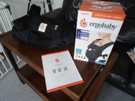 """""""Ergobaby Adapt"""" baby/infant carrier in as-new condition with all packaging, instructions, etc."""