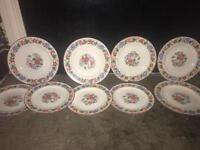 WEDGWOOD china W286 FLORAL pattern Set of 9