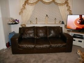 Large sofas and chair