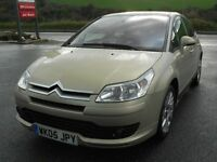 CITROEN C4 1.6i 16V VTR + 5 DOOR, 2005, 83'000 MILES, SPARES OR REPAIRS - NEEDS GEARBOX, LONG MOT