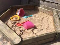 Wooden TP Toys sand pit