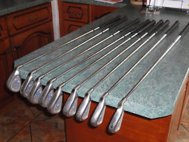 Set of Callaway X14 Steelhead irons for sale