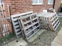 Pallets - 17 mixed & 1 very large