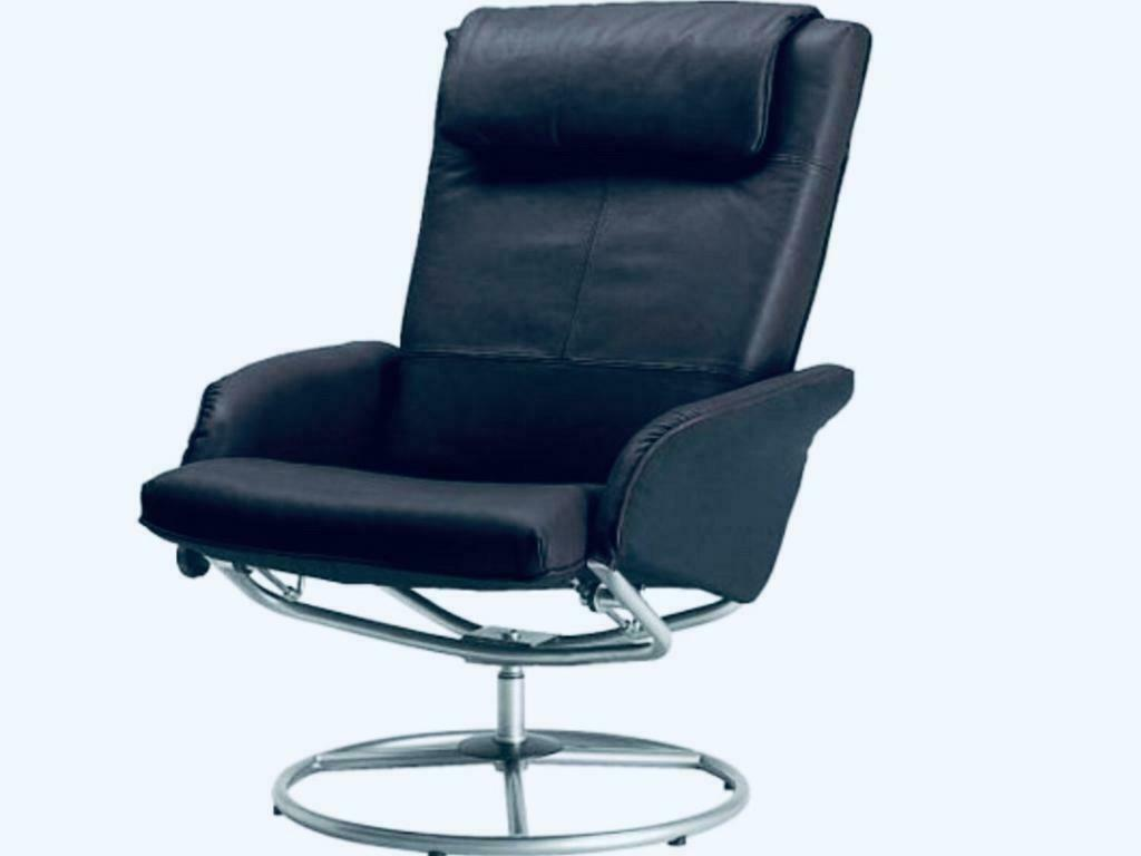 Ikea Malung Leather Swivel Recliner Chair