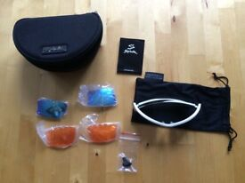 Grey Spiuk bike/cycling goggles and sunglasses