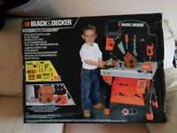 Child's Black & Decker work bench, new still in box, just like adult version