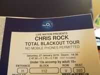 Chris Rock Total Blackout Tour ticket for sale