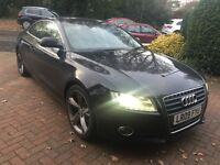 Audi A5 1.8 Sport petrol. Black. Reg 2009 milage 75,000 full service 2 keys. Black leather
