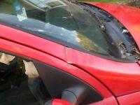 Vauxhall Corsa Active CDTI, damaged on front off side screen pillar, screen bust will repair