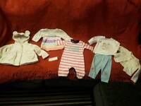 Baby clothes hooded fleece top set top cardi