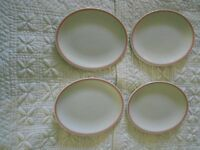 4 x Duraline Dudson Super Vitrified 9 - 89 Oval Plates