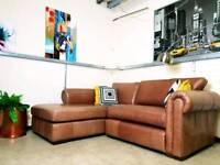 Thomas Lloyd Aspen corner sofa in tan leather RRP £1600