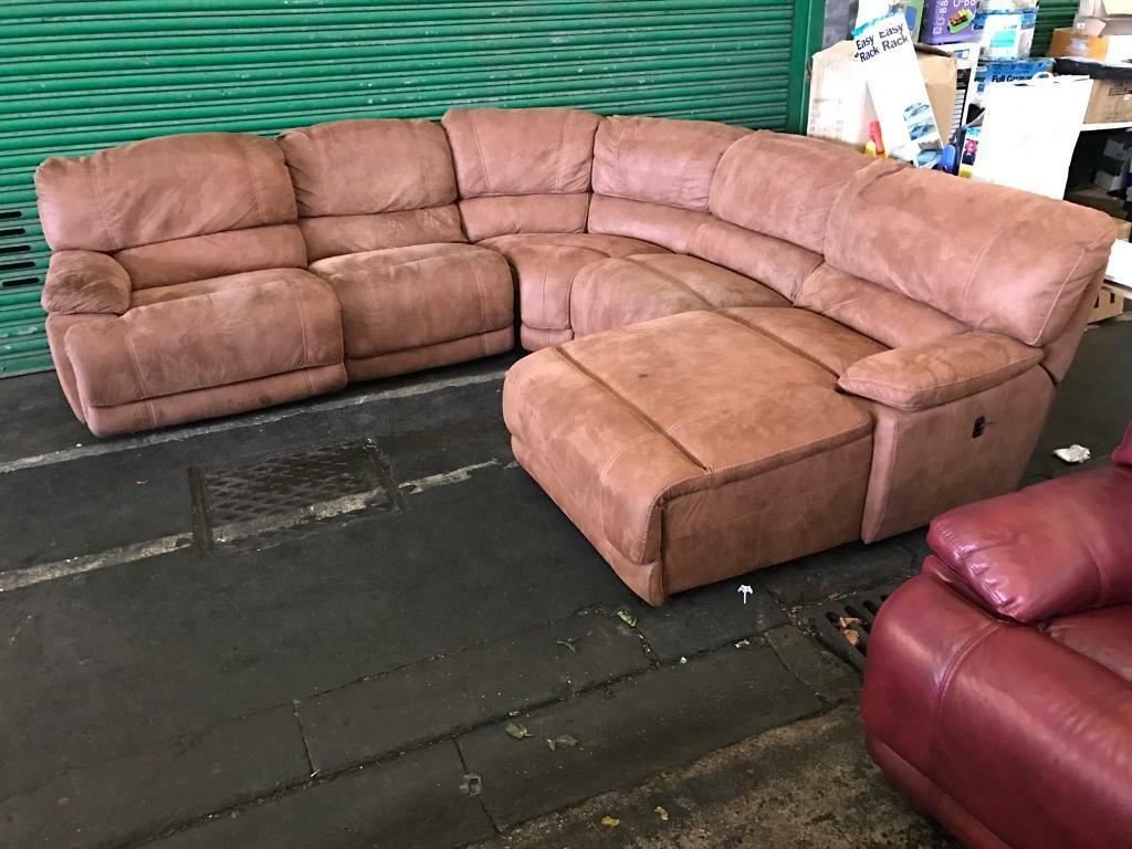 Corner recliner sofa second hand refil sofa for Second hand sofas