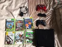 Xbox 360 black plus games