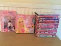 BARBIE DVD's Films x 15 Plus 2 x BOOKS