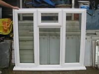 White UPVC double glazed window 1520 mm x 128 mm 1 top and 2 side openings