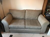 Next 2 seated sofa. Oatmeal colour material