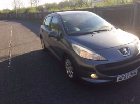 2008 57 Peugeot 207 1.4 5 door hatchback 9 month mo