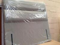 Double Brand New Fawn Upholstered Headboard,