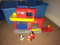 Fisher price little people fire station.