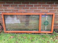 Glazed panels in hard wood frame...ideal for shed, greenhouse etc