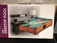 Mini Desktop Pool Table Set (brand new - never used)